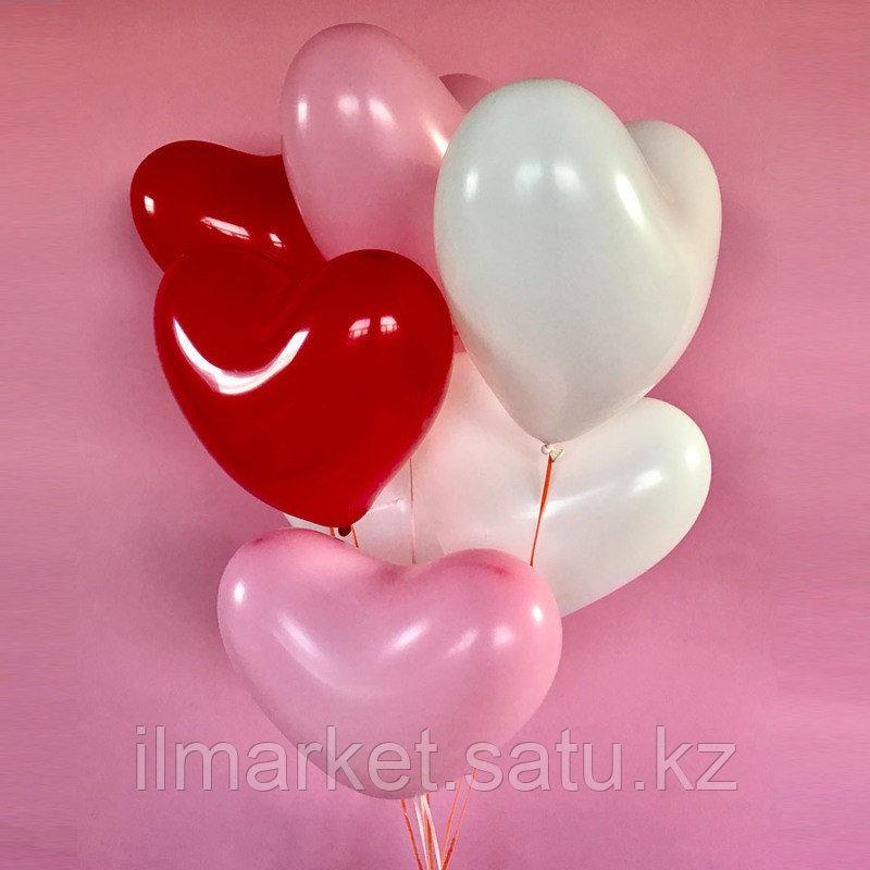 Гелиевые шары Сердечки - фото 1