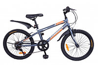 """Велосипед Torrent Totem, подростковый, 7 скоростей, колеса 20д, рама сталь 10,5"""", Матовый/Серый"""