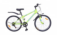 """Велосипед Torrent Magic, горный, 7 скоростей, колеса 24д, рама сталь 13"""", Матовый /Зеленый"""