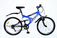 """Велосипед Torrent Adrenalin, подростковый, 7скоростей, колеса 24 д., рама сталь 17"""", Голубой/черный"""