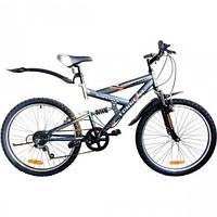 """Велосипед Torrent Adrenalin, подростковый, 7скоростей, колеса 24 д., рама сталь 17"""", Матовый/Серый"""