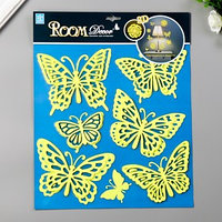 Светящаяся наклейка Room Decor  'Сказочные бабочки' 31х31 см