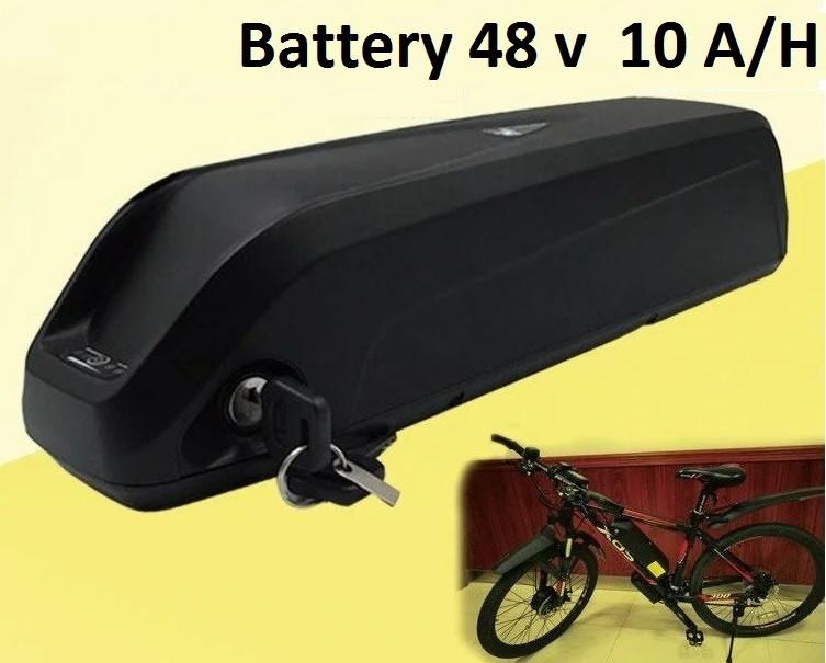 Аккумулятор Li-ion  48v 10 A/H + зарядн. устройство 48 v. Вес 3 Кг. Для моторов до 500w
