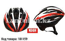 Защитный шлем для катания на роликах и велосипеде MOON матовый красно-черный