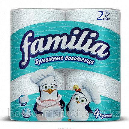 Полотенца бумажные Familia 2сл. 4x7рул., фото 2