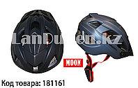 Защитный шлем для катания на роликах и велосипеде MOON матовый черный