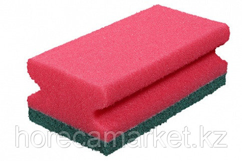 Губка для клининга Фреза 130x70x45 (8шт) красная