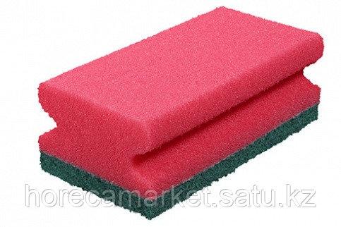 Губка для клининга Фреза 130x70x45 (8шт) красная, фото 2