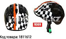 Защитный шлем для катания на роликах и велосипеде MOON шахматный