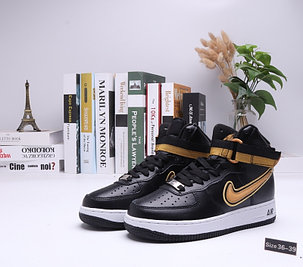"""Кроссовки Nike Air Force 1 High """"Black\Gold"""" (36-39), фото 2"""