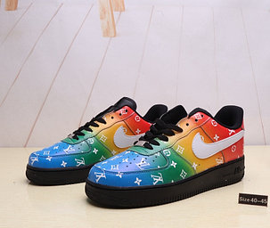 "Кроссовки Nike Air Force 1 ""Rainbow Louis Vuitton"" (40-45), фото 2"