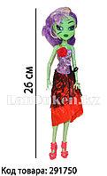 """Кукла для девочек ВЕНЕРА МАКФЛАЙТРАП """"Монстер хай"""" 26 см в красно-фиолетовом платье"""