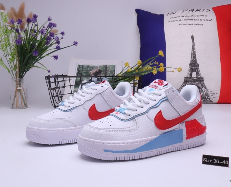 """Кроссовки Nike Air Force 1 """"White\Red\Blue"""" (36-40)"""