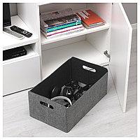 БЕСТО Коробка, серый, серый 32x51x21 см