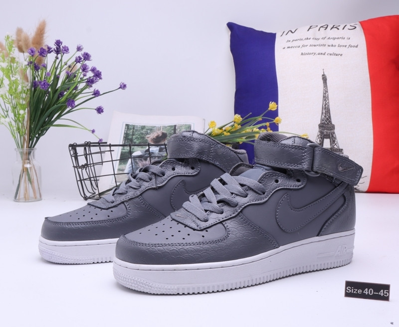 "Кроссовки Nike Air Force 1 High ""All Gray"" (40-45)"