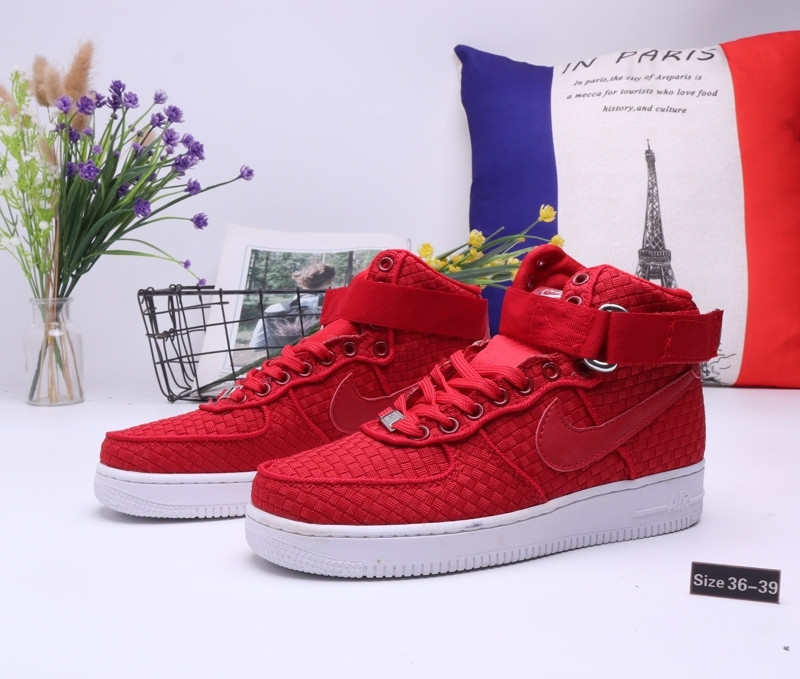 """Кроссовки Nike Air Force 1 High """"All Red"""" (36-39)"""