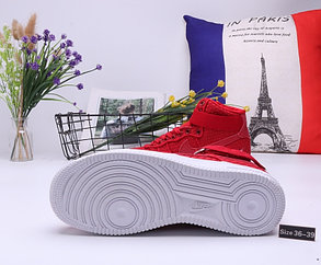 """Кроссовки Nike Air Force 1 High """"All Red"""" (36-39), фото 2"""