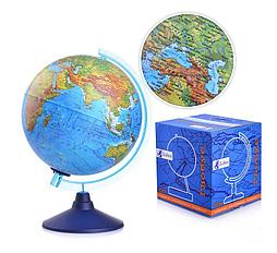 "Глобус физический диаметр 250мм ""Евро"""