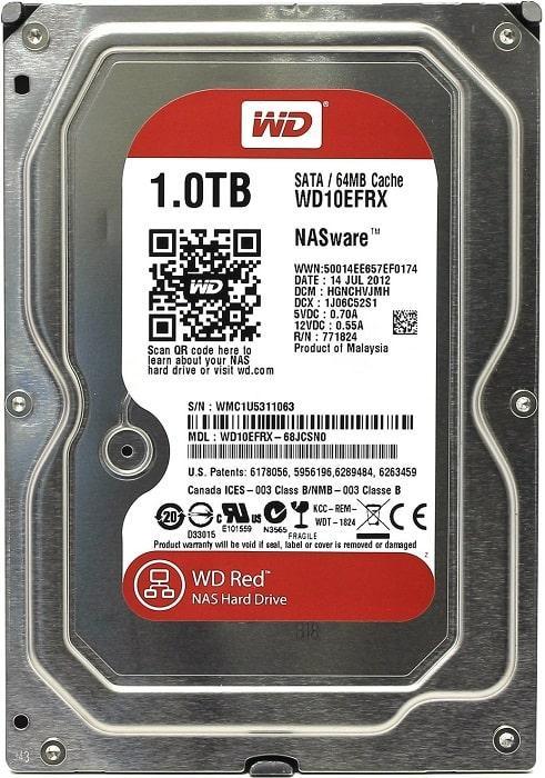 Жёсткий диск Western Digital WD Red WD10EFRX 1TB