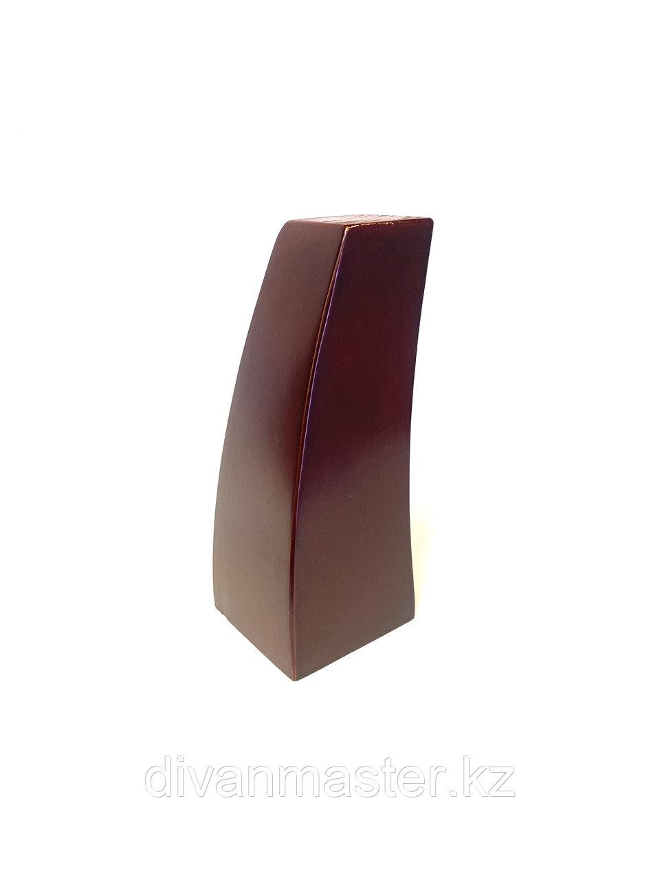 Ножка мебельная, деревянная с изгибом. 15 см