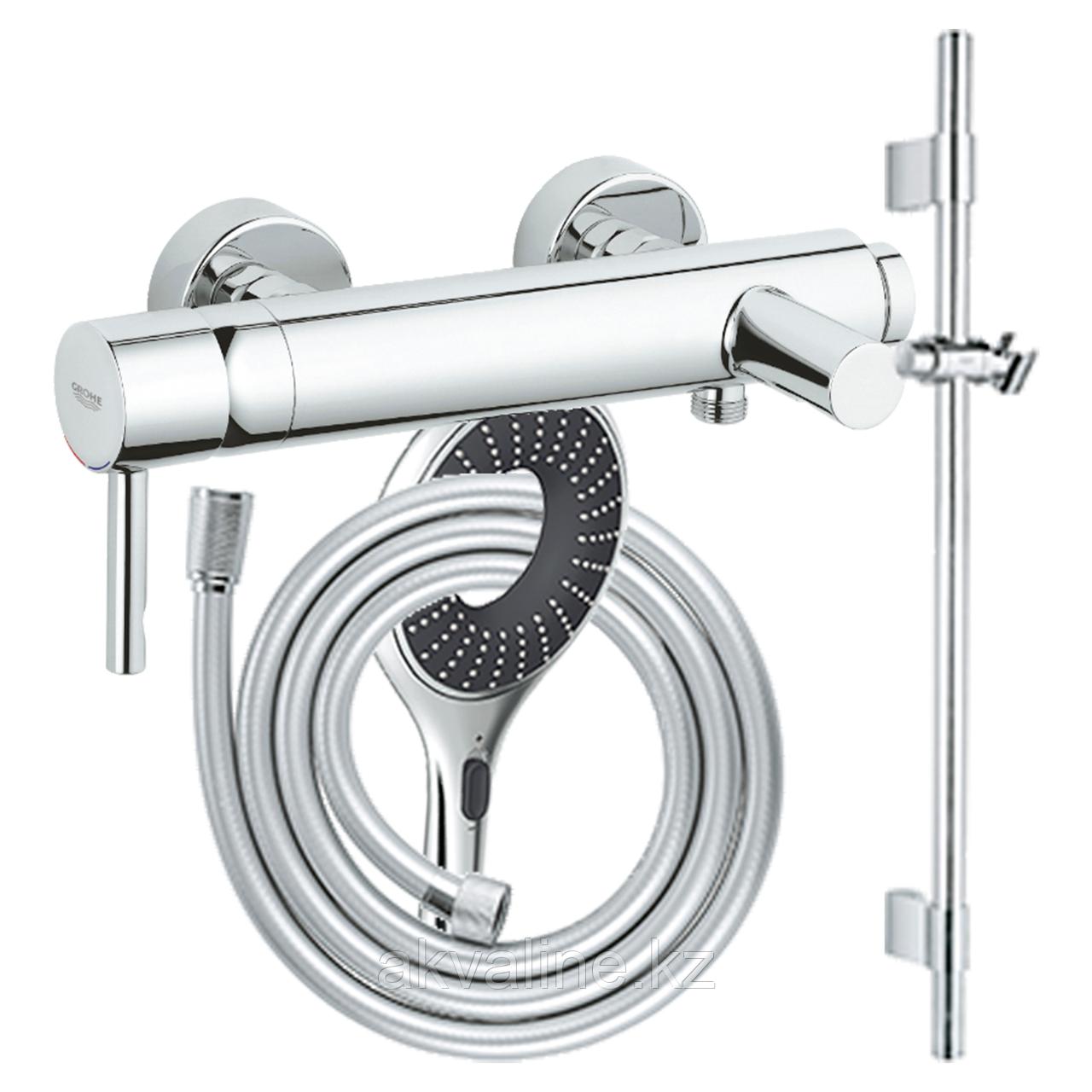 Комплект смеситель для ванны Essence , штанга 600мм, ручной душ, шланг