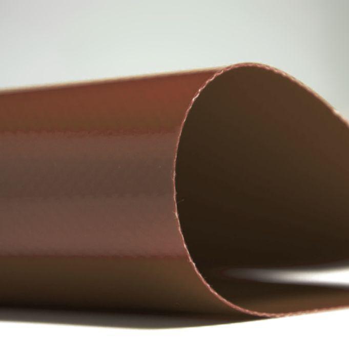 Тентовая ткань 650гр КОРИЧНЕВЫЙ  2,5м*50м ТАРПОУЛИН