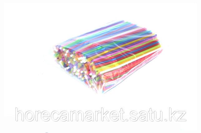 Трубочки d5x24 цветные с гофрой (500шт), фото 2