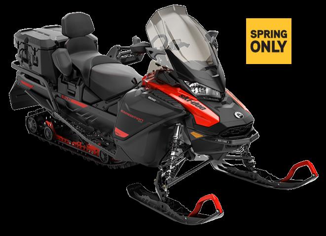 Снегоход Expedition SE Studded track VIP 900 ACE Turbo Черно-красный 2021
