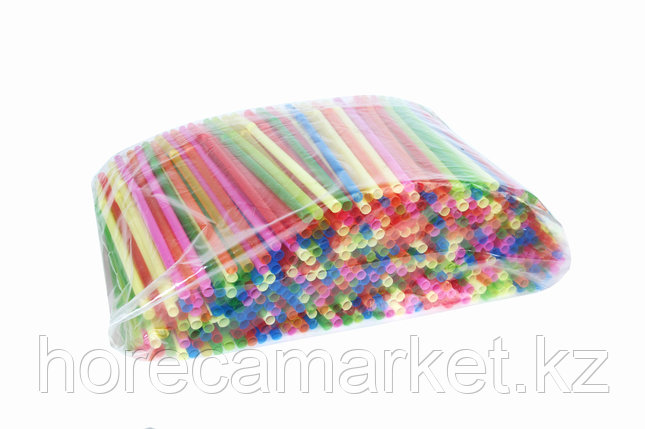 Трубочки d8x26mm цветные с гофрой (500шт), фото 2