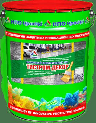 Тистром-Декор — прозрачный полиуретановый лак 20 кг