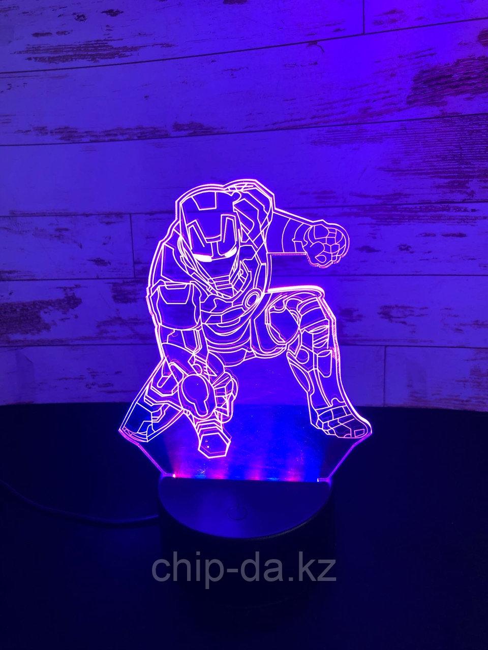 Ночник 3D Железный человек