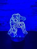 Ночник 3D Железный человек, фото 3