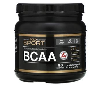California Gold Nutrition, Порошок BCAA, AjiPure®, аминокислоты с разветвленными цепями, 454 г (16 унций)