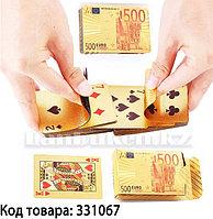 Покерные карты с золотым напылением Golden Premium Euro 54 Карты игральные сувенирные (цветные)