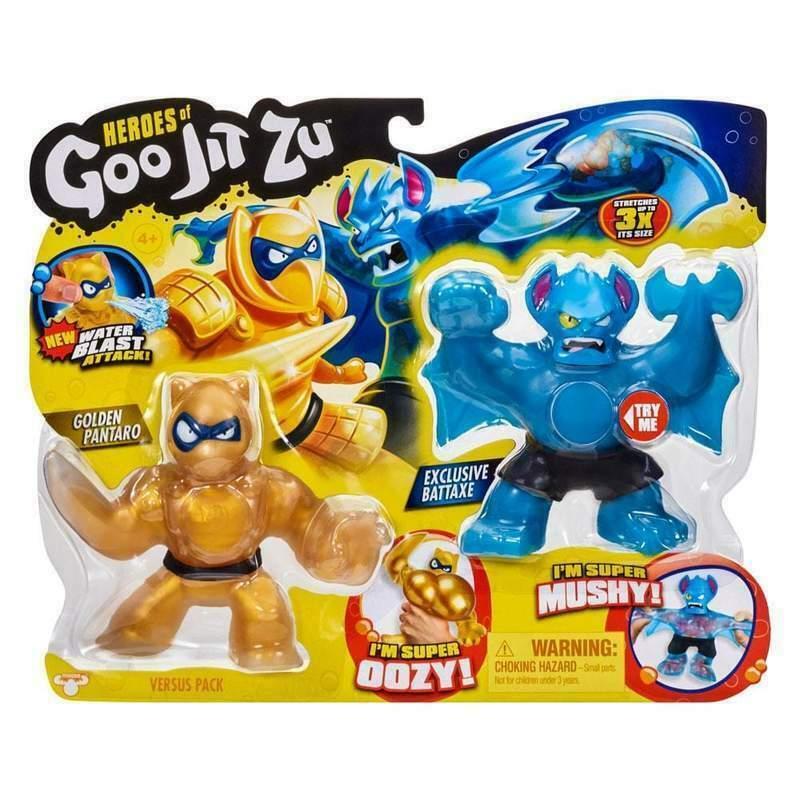 Гуджитсу набор Тянущиеся фигурки Золотой Пантаро с водной атакой и эксклюзивный Бэттакс