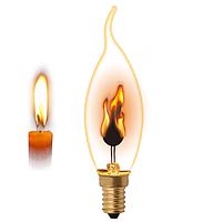 Лампа свеча на ветру