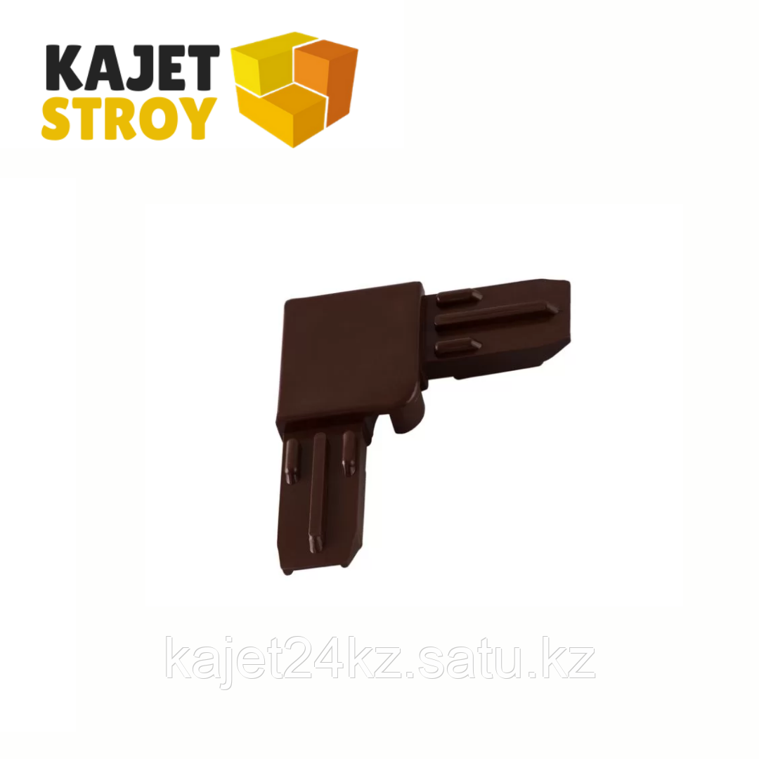 Соединение уголок коричневый 30 мм