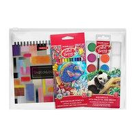 Набор для творчества ErichKrause (3 предмета), (краски акварельные, акварельные карандаши, альбом для эскизов)