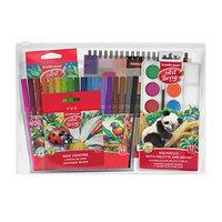 Набор для творчества ErichKrause (5 предметов), (фломастеры, мелки, краски акварельные, цветные карандаши, альбом для эскизов)