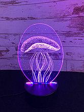 Ночник 3D Медуза
