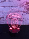 Ночник 3D Медуза, фото 3