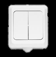 Выключатель 2кл о/у белый IP54 TERRA NEW (10/200)