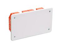 КМ41006 распаячн. для твердых стен 172x96x45 (с саморезами, с крышкой) IEK (70) NEW