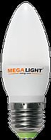 "LED ЛАМПА C37 ""Свеча"" 7W 630Lm 230V 6500K E27 MEGALIGHT (10/100)"