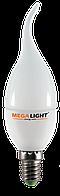 """LED C37 """"Свеча на ветру"""" 4.5w 230v 2700K E27-F MEGALIGHT (10/100)"""