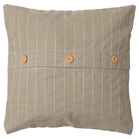 Чехол на подушку ФЕСТХОЛЬМЕН бежевый 50х50 ИКЕА, IKEA, фото 1