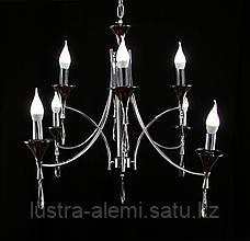 Люстра Классика 80010/8 Silver+BK E14*8, фото 2