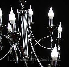 Люстра Классика 80010/8 Silver+BK E14*8, фото 3