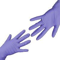 Перчатки UNIX Medical, нитриловые (Фиолетовые), размер L, 100шт.