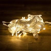 """Гирлянда светодиодная """"Нить"""" - 10 метров, 80 лампочек, теплый свет, светит постоянно"""